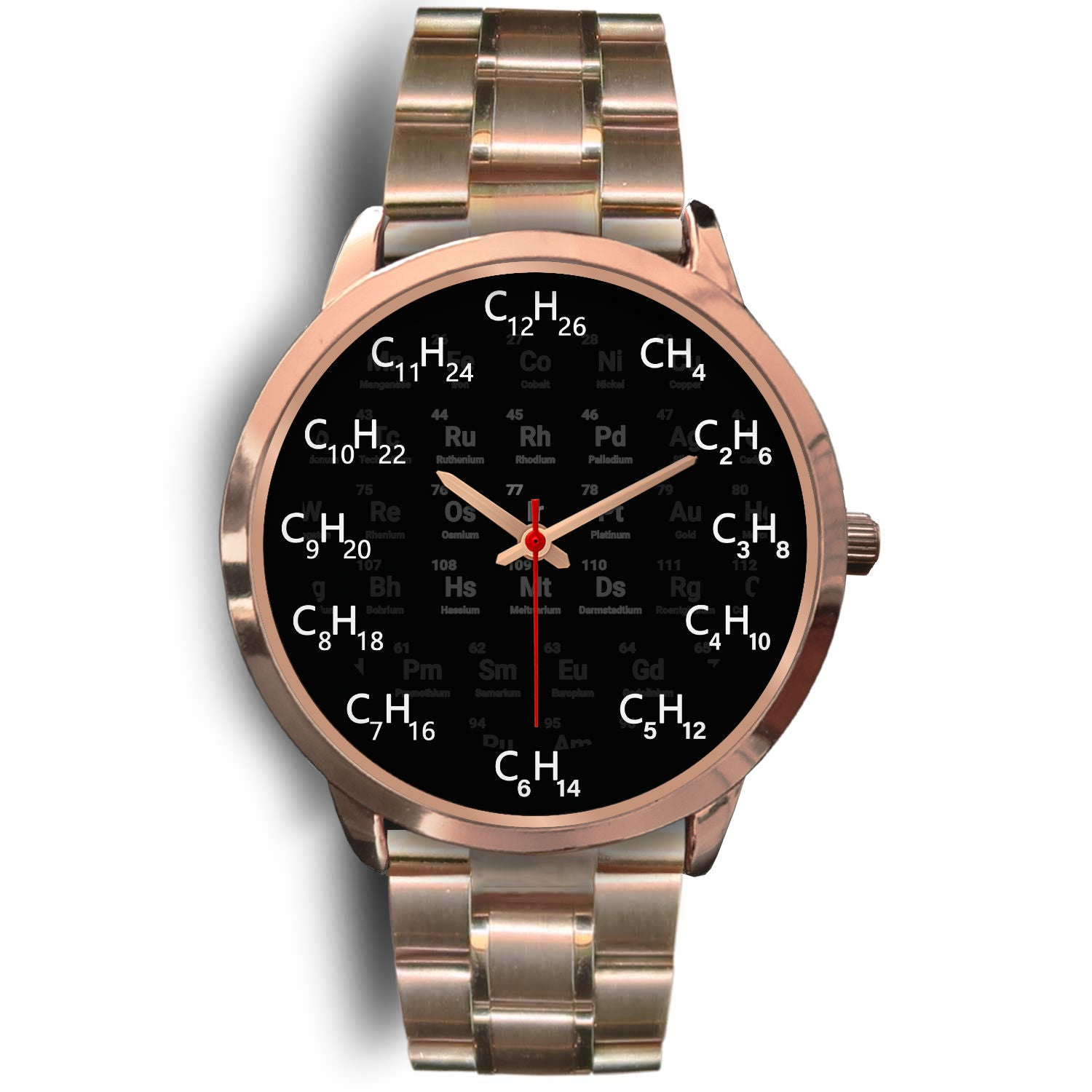 VIRA chemical formula rose gold stainless steel watch for awesome teachers
