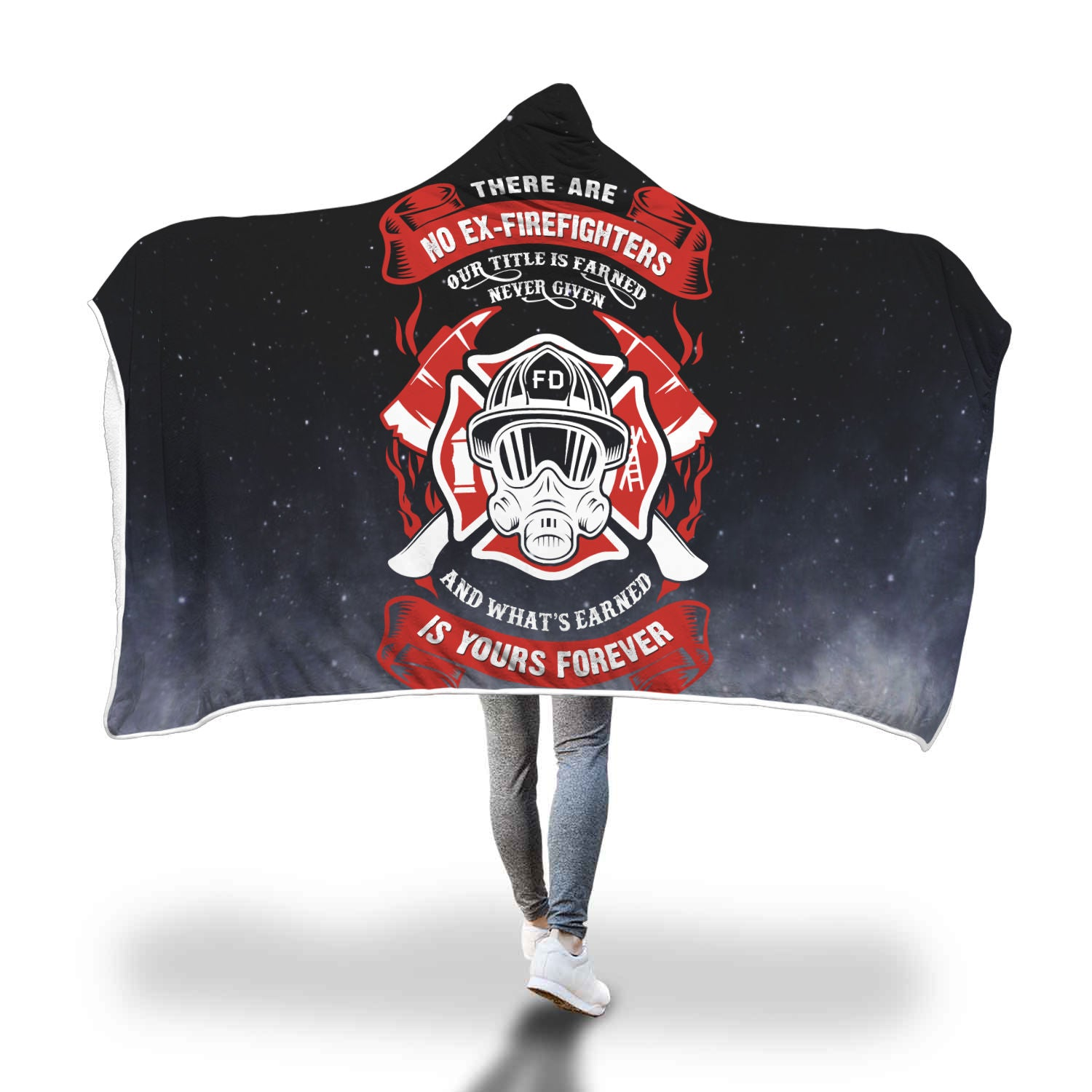 VIRA COZY HOODED BLANKET FOR FIREFIGHTER