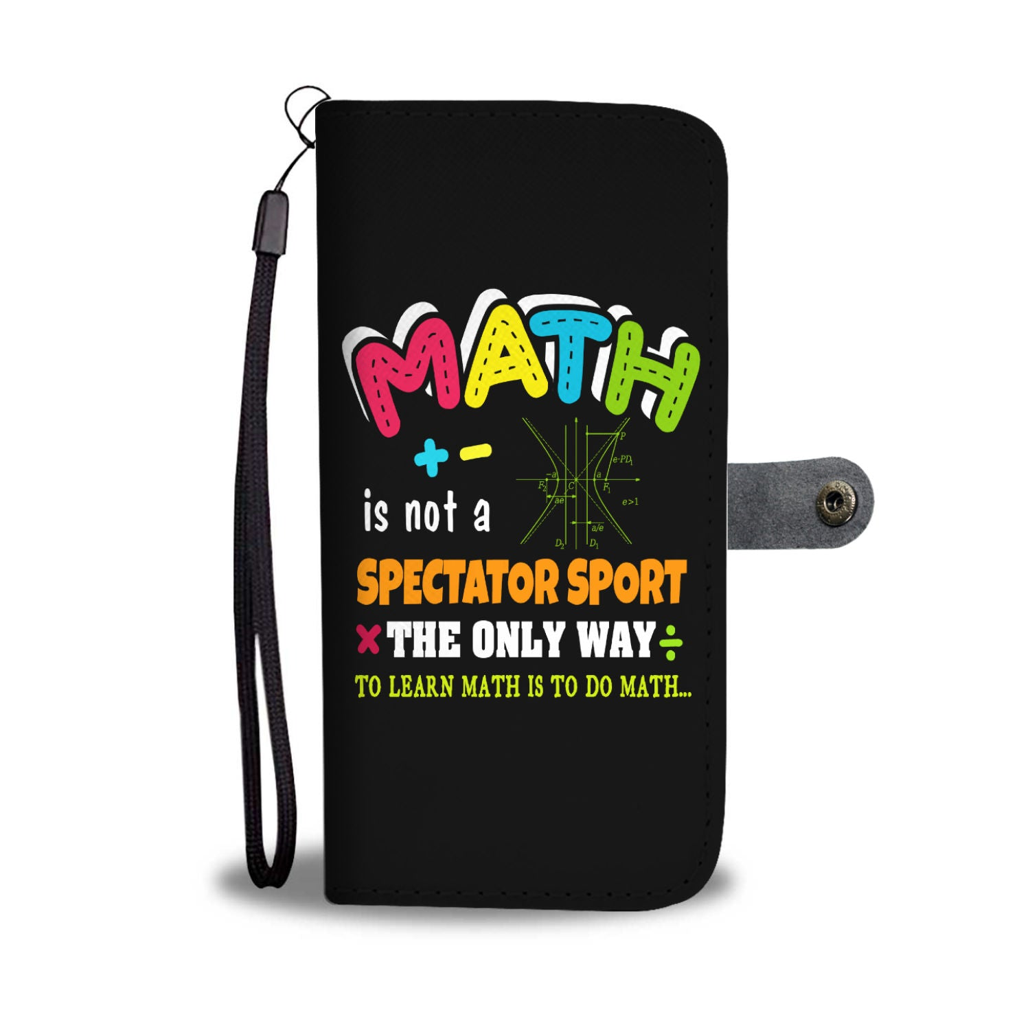 VIRA math leather- like wallet case for awesome teachers