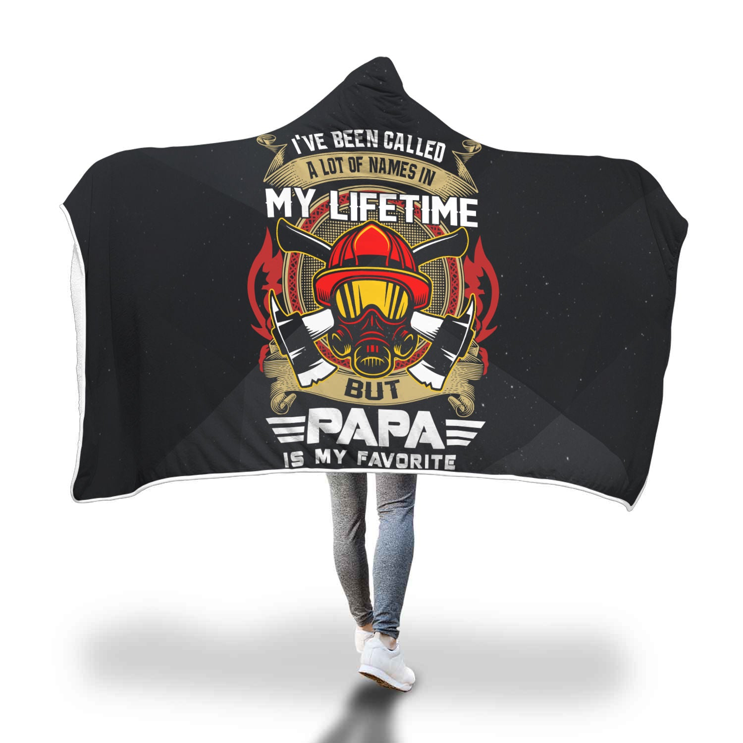 VIRA COZY HOODED BLANKET FOR FIREFIGHTER papa