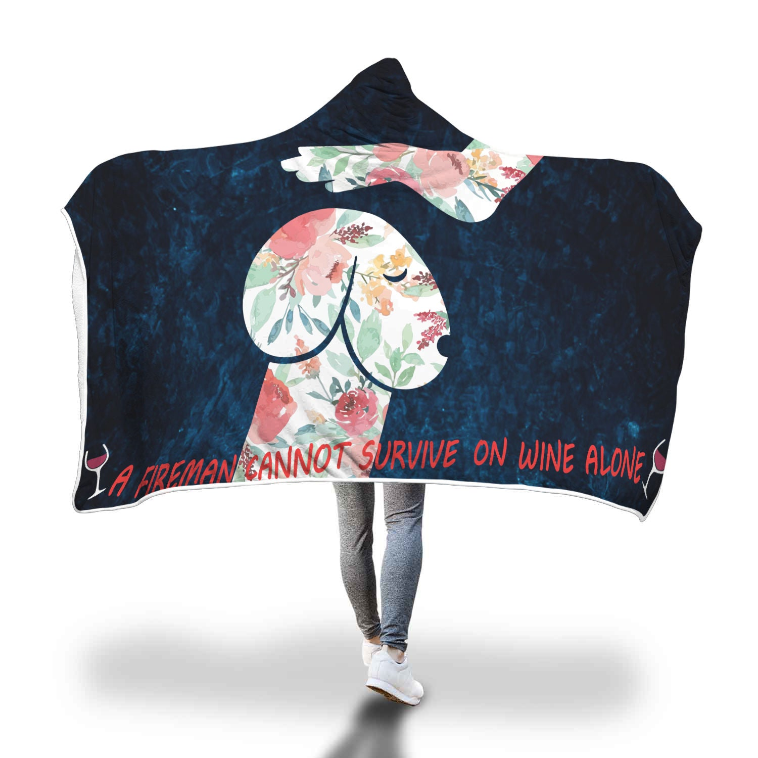 VIRA COZY HOODED BLANKET FOR FIREFIGHTER cannot survive on wine alone