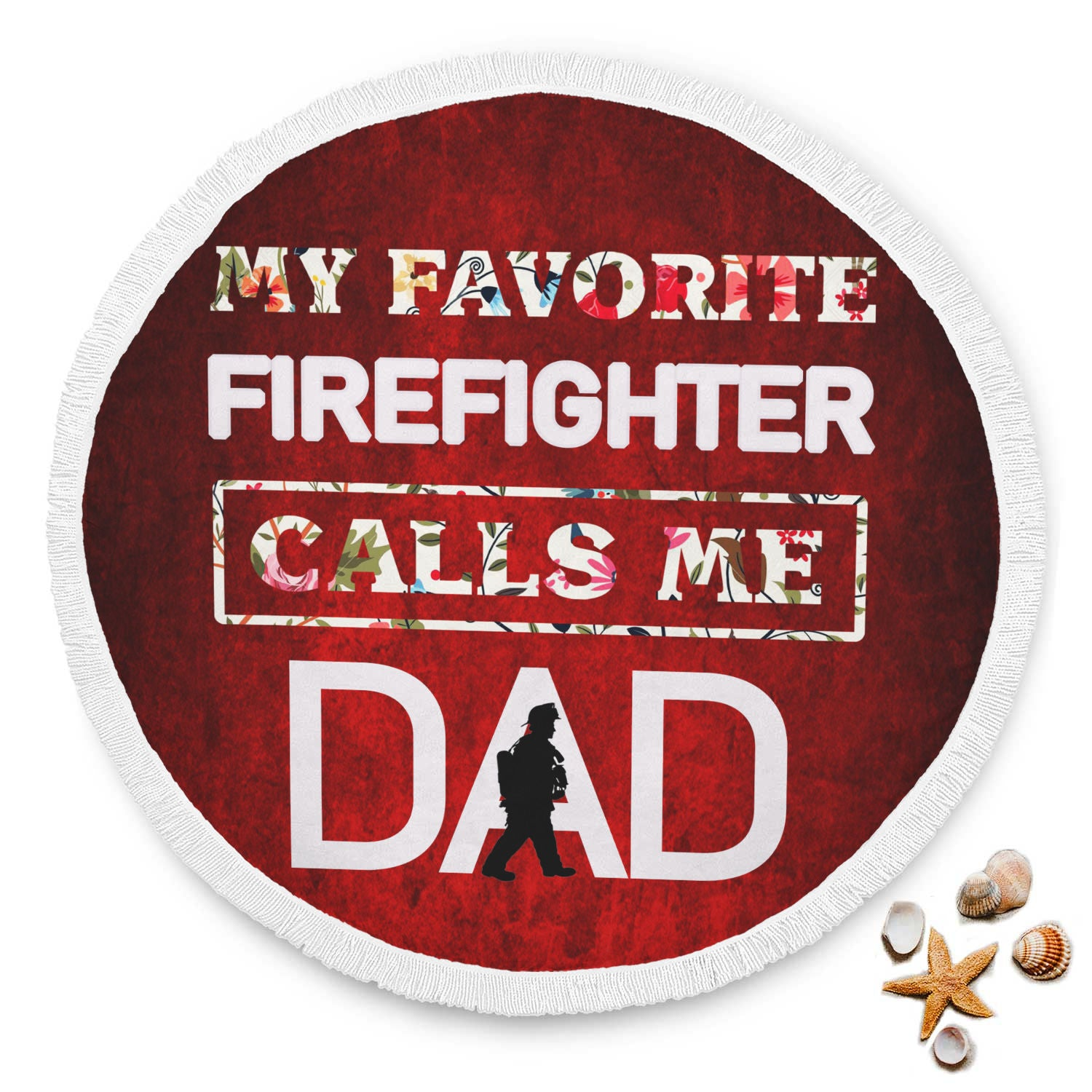 VIRA ROUND BEACH BLANKET FOR FIREFIGHTER dad THIS SUMMER