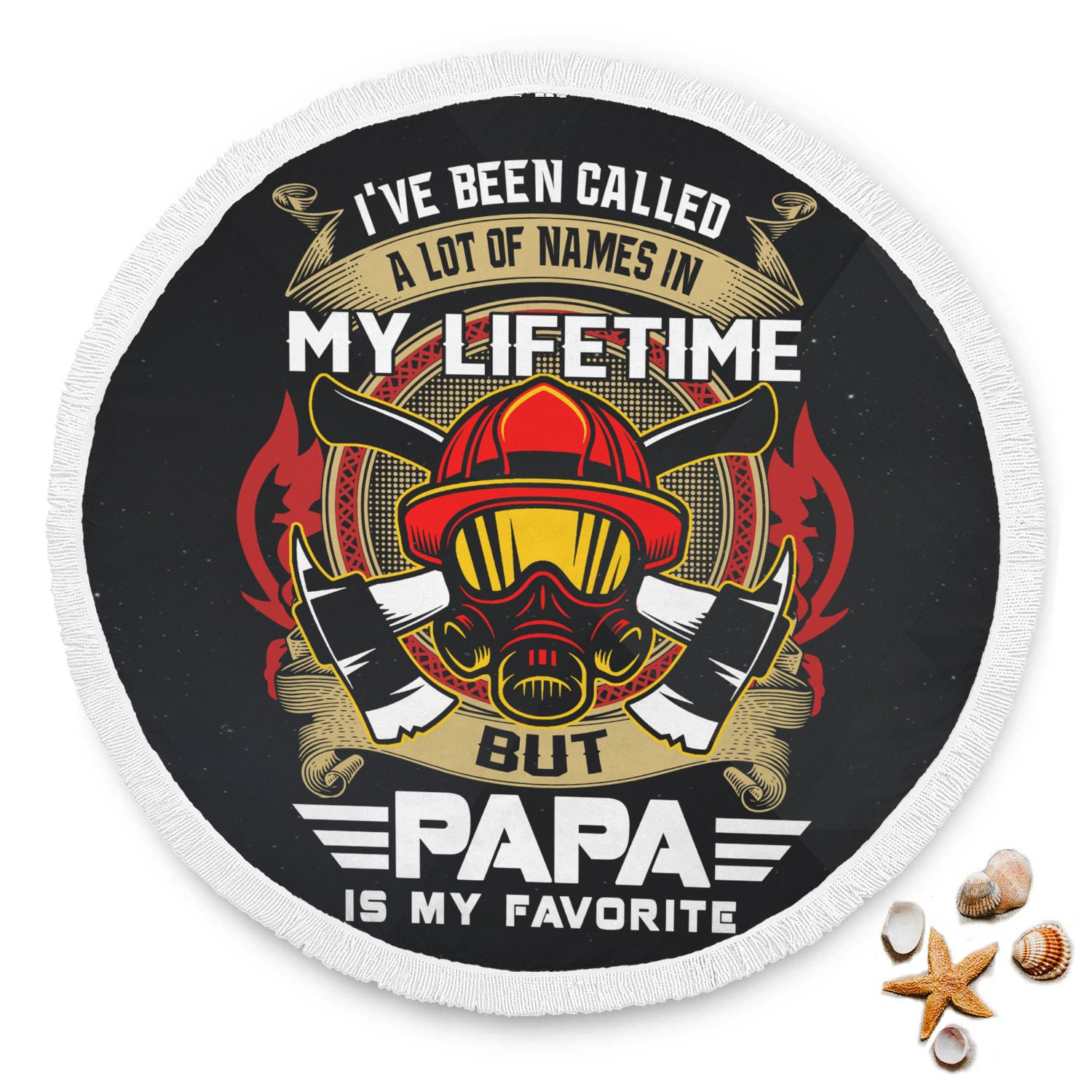 VIRA ROUND BEACH BLANKET FOR FIREFIGHTER papa THIS SUMMER