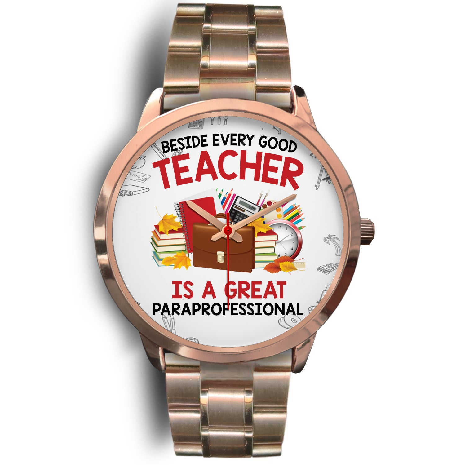 VIRA rose gold stainless steel watch for awesome teachers & papaprofessionals