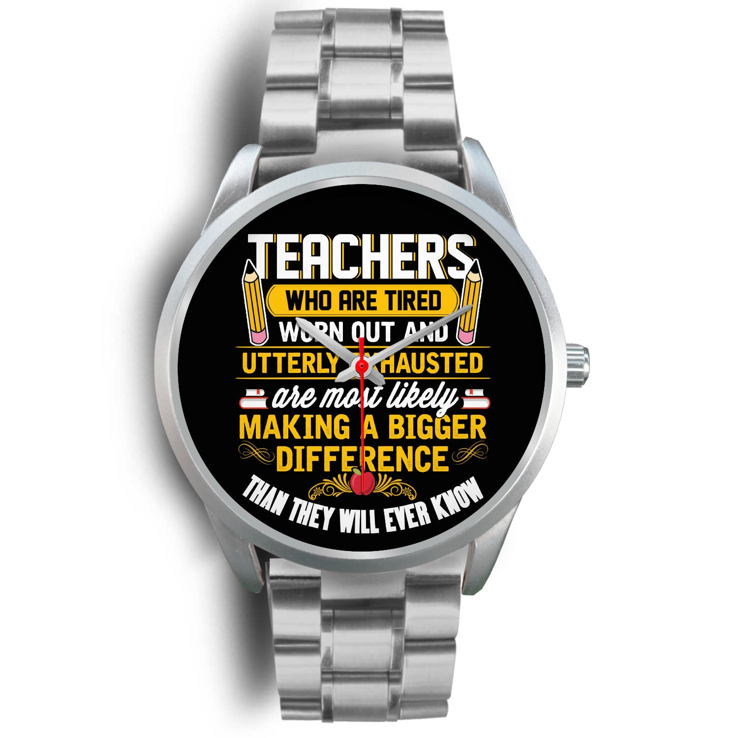 VIRA silver stainless steel watch for awesome teachers