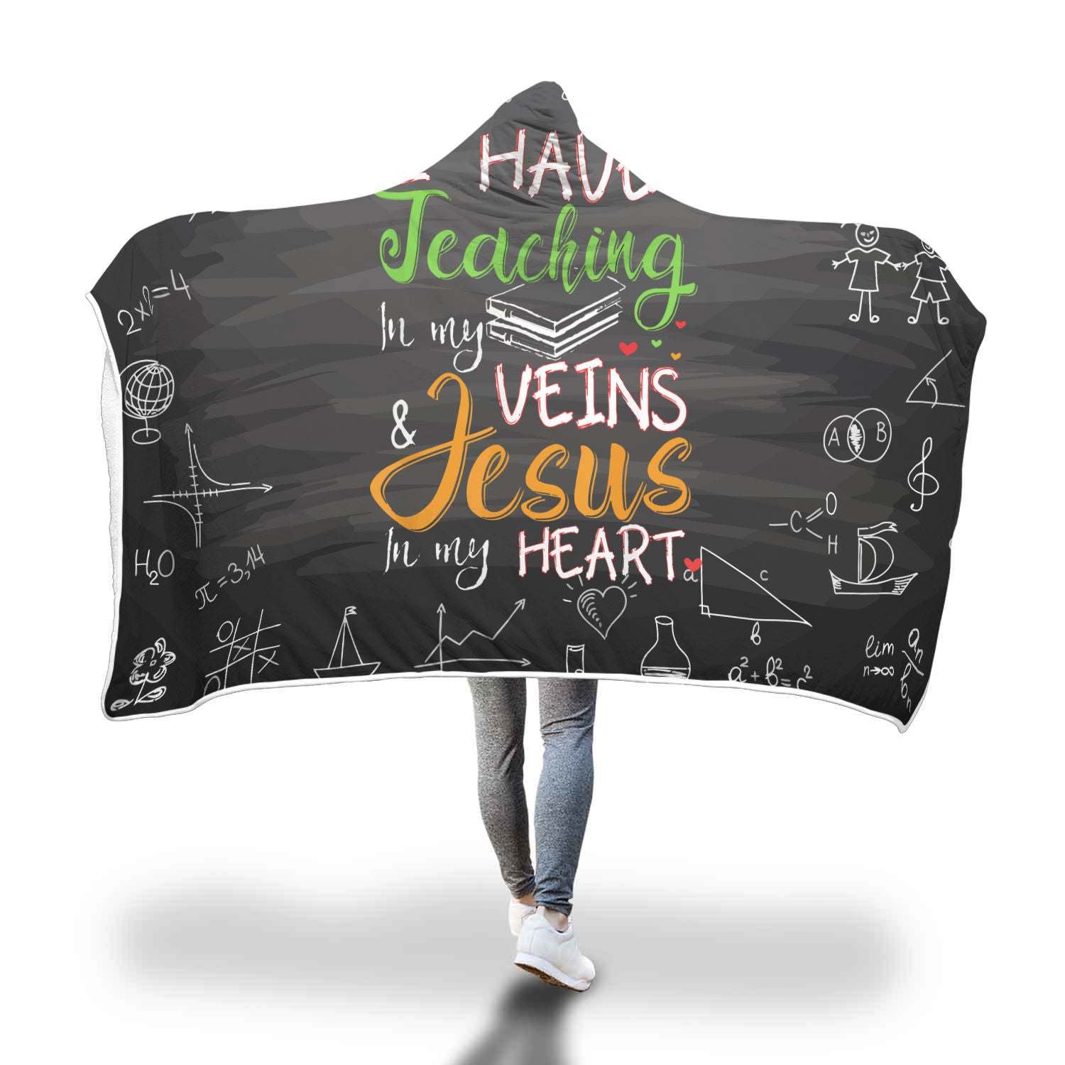 VIRA Awesome Hooded Blanket For Jesus Lovers & Great Teachers