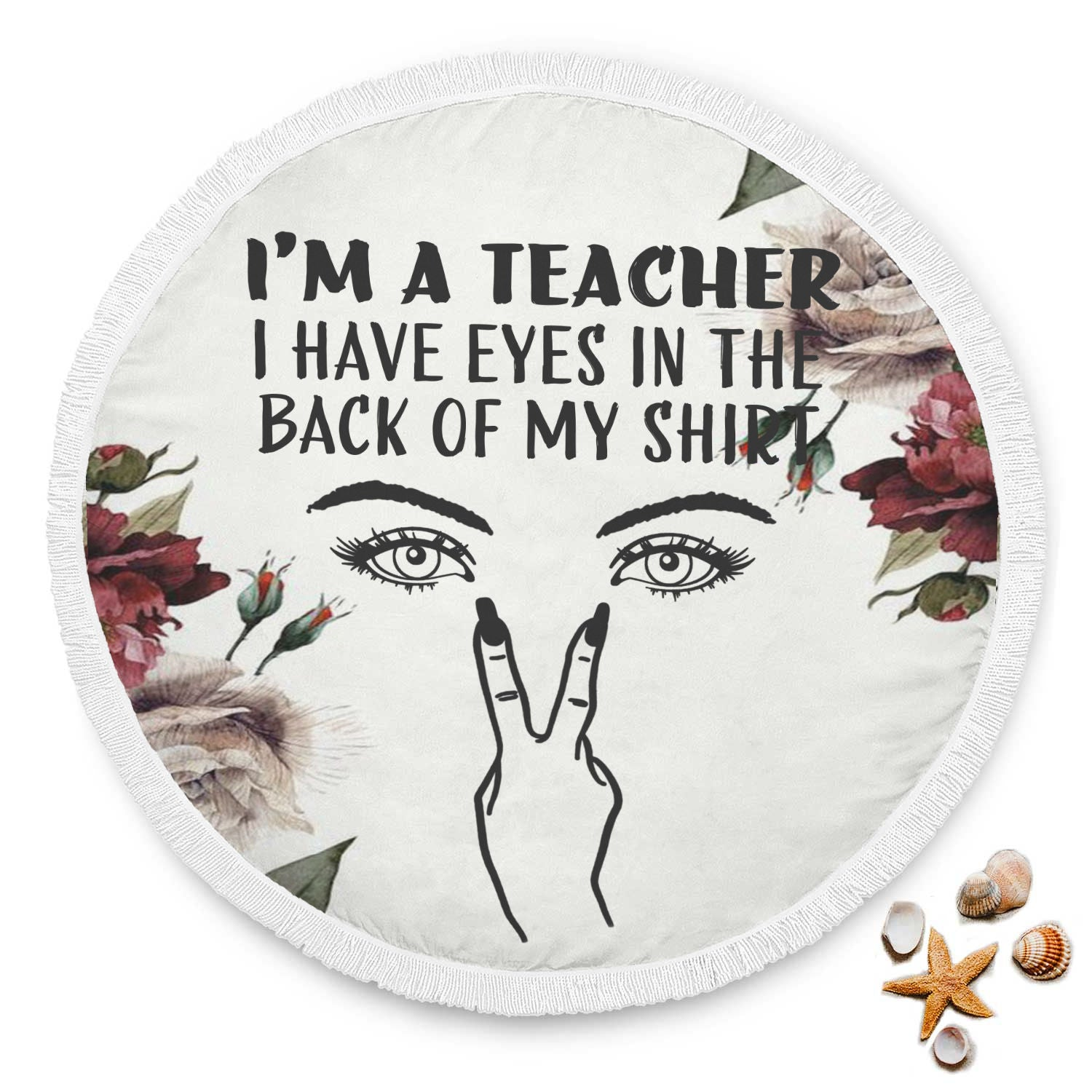 VIRA funny beach blanket for awesome teachers