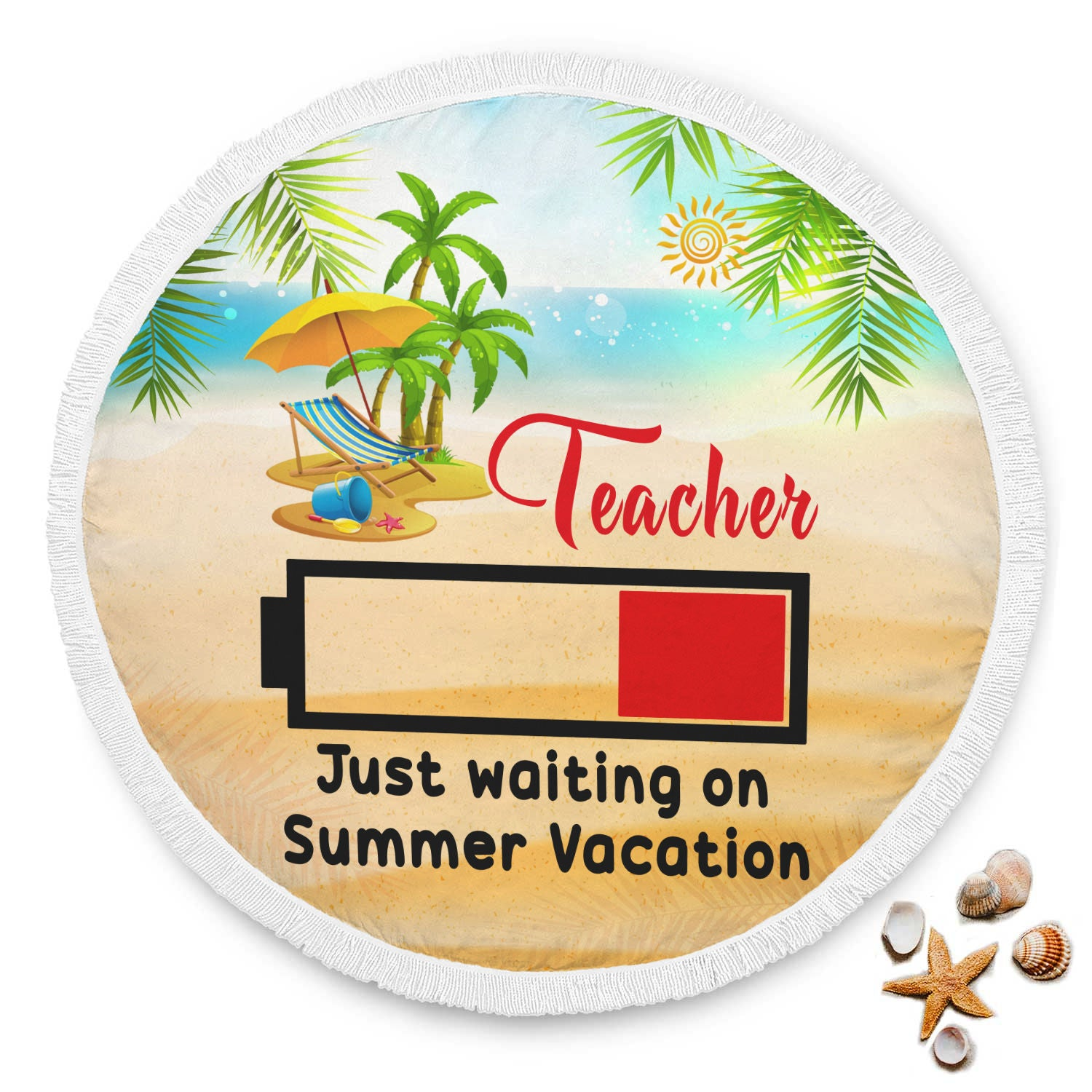 VIRA summer vacation beach blanket for awesome teachers