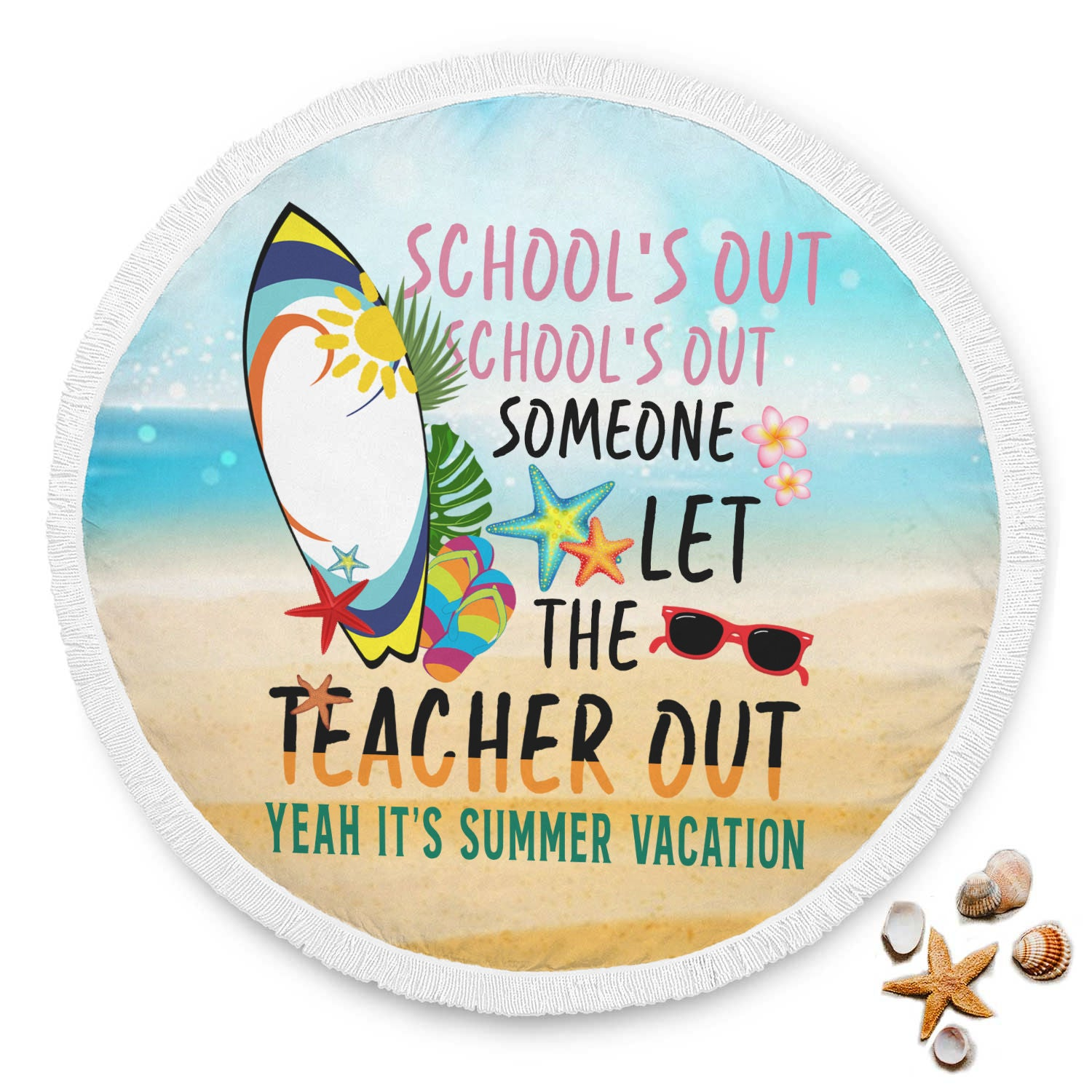 VIRA summer circle beach blanket for awesome teachers