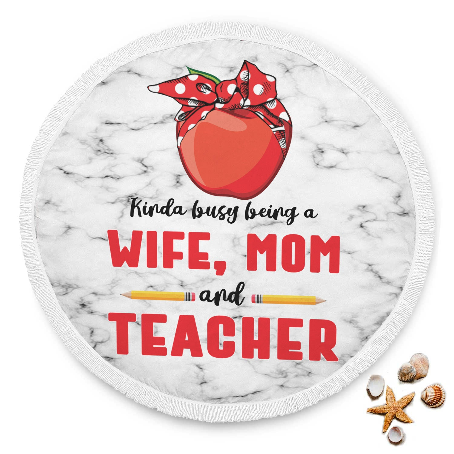 VIRA circle beach blanket for awesome teachers & moms