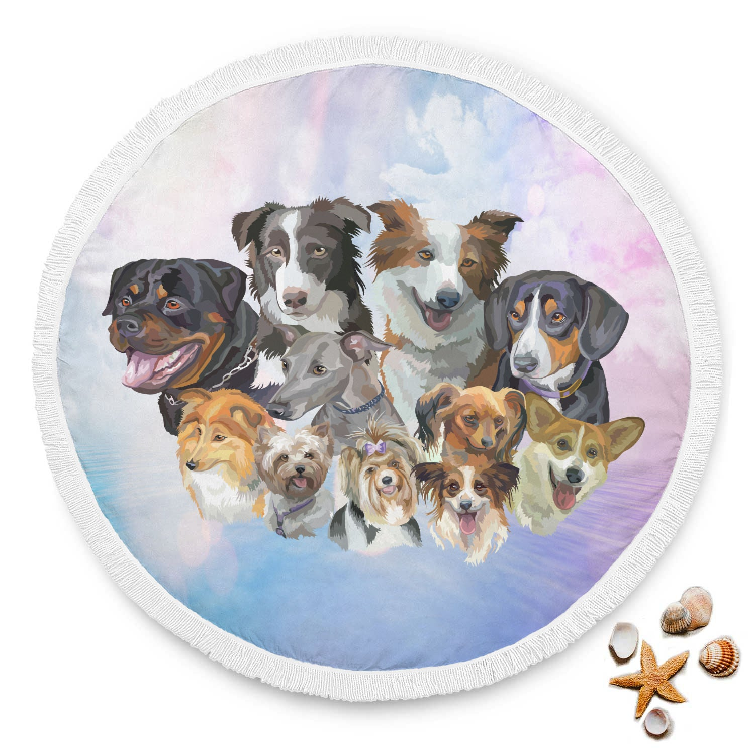 VIRA Beach Blanket For Dog Lovers