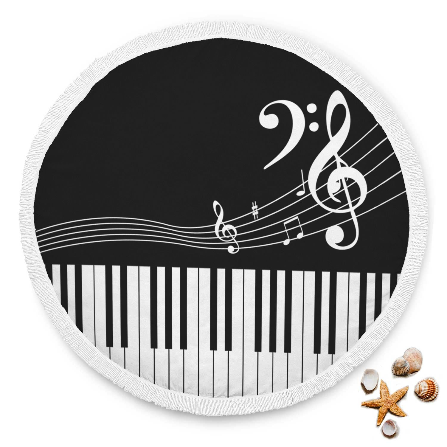 VIRA piano circle beach blanket for awesome teacher music