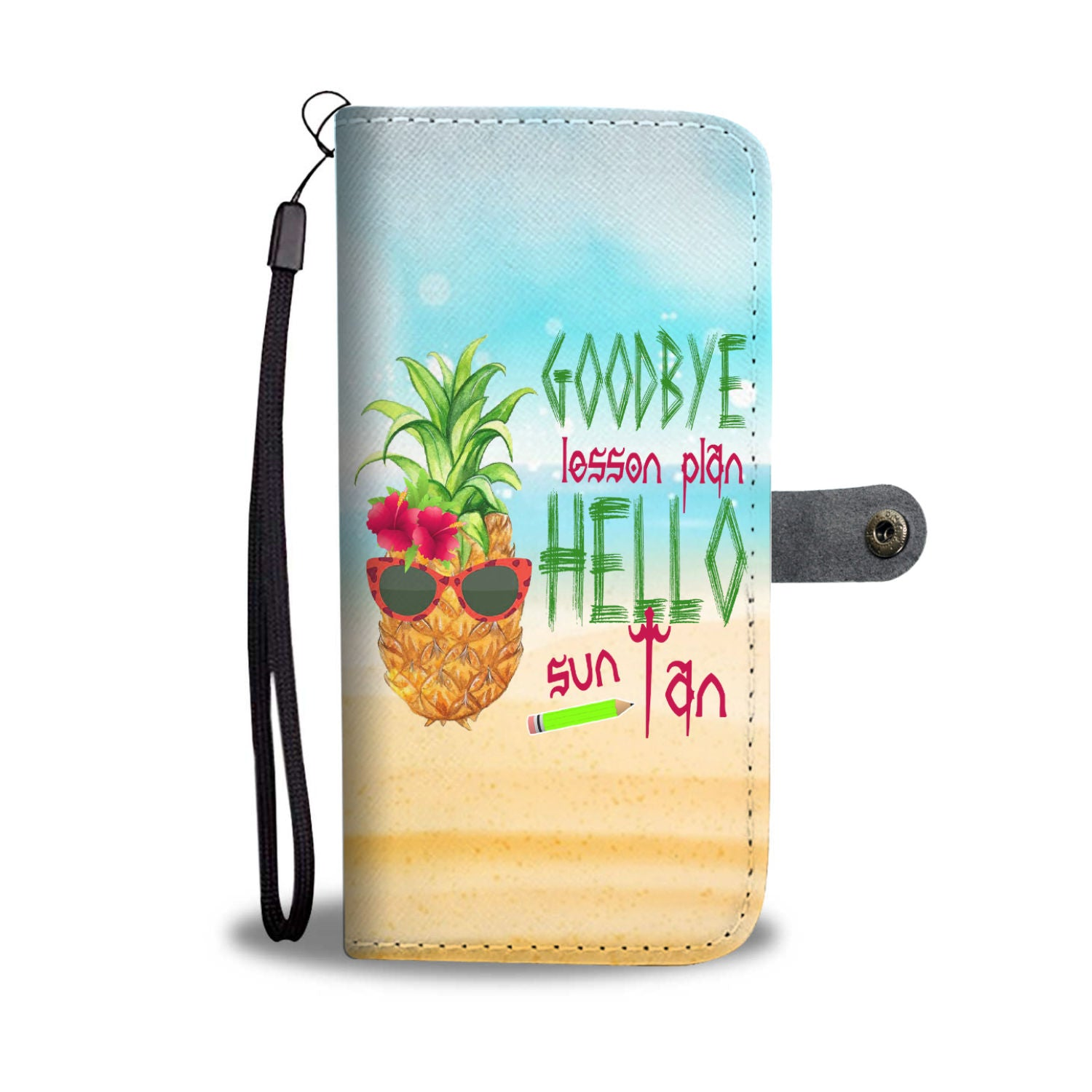 VIRA summer vacation leather- like wallet case for awesome teachers