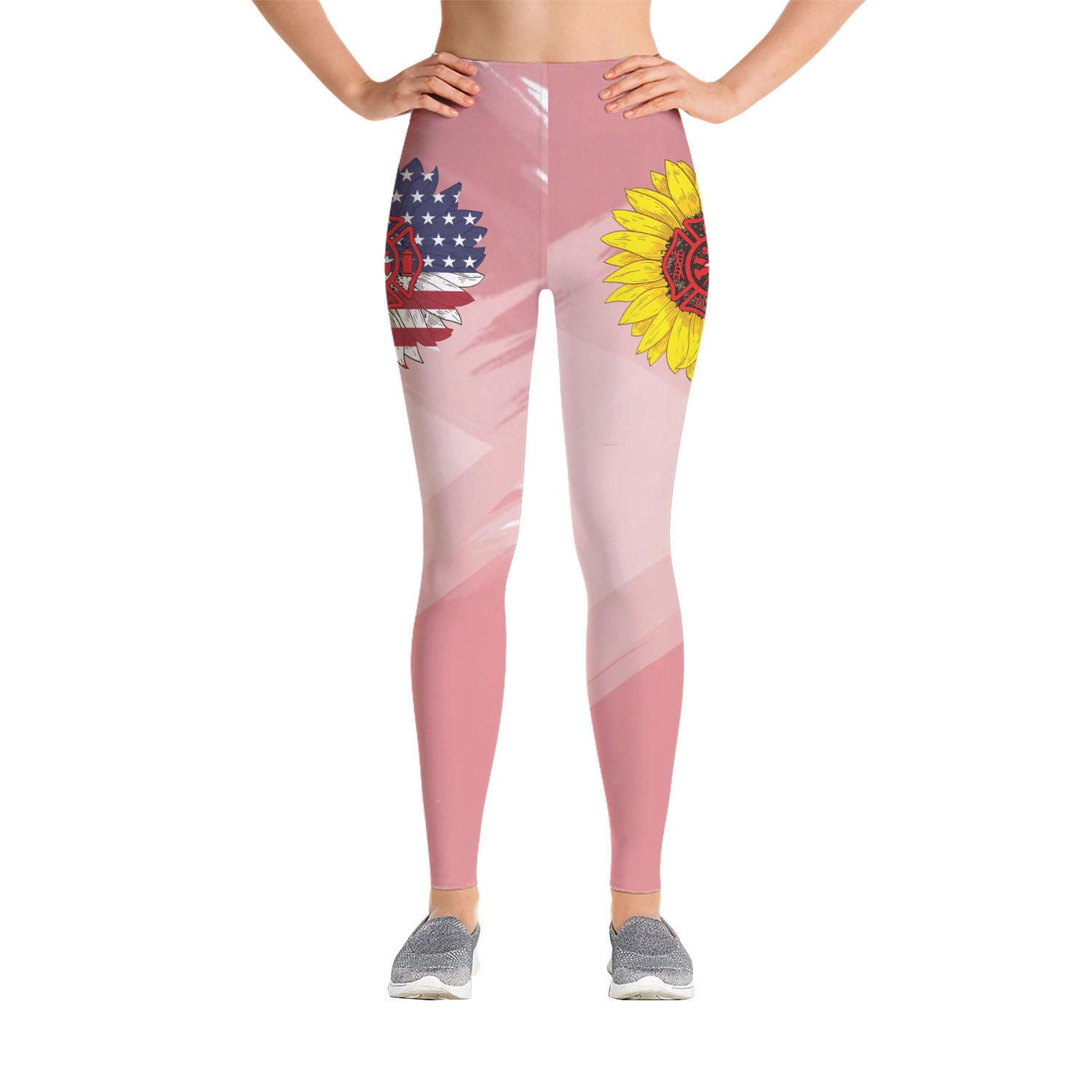 VIRA PREMIUM LEGGING FOR WHO LOVES AMERICA AND FIREFIGHTER TOO