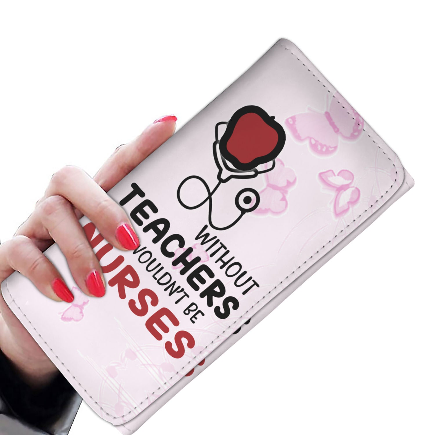 VIRA leather- like women's wallet for awesome teachers & nurses