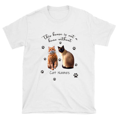 PERSONALIZED T-SHIRT - UPLOAD YOUR BELOVED CAT PHOTOS AND NAMES