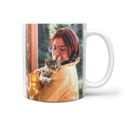 PERSONALIZED MUG - UPLOAD YOU AND CAT MOMENT PHOTO
