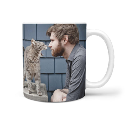 PERSONALIZED MUG - UPLOAD YOU AND CAT MOMENT PHOTO MD25