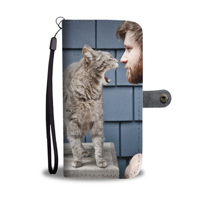 PERSONALIZED WALLET CASE - UPLOAD YOUR  PHOTO WITH CAT