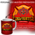 PERSONALIZED MUG - CREATE YOUR OWN FIREFIGHTER MUG WITH YOUR NAME + CITY NAME AND YOUR EMBLEM LOGO