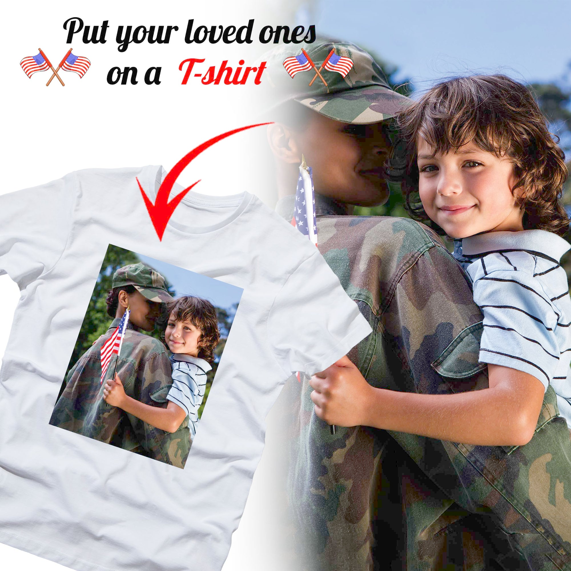 PERSONALIZED unisex t-shirt - upload your loved ones photo 32