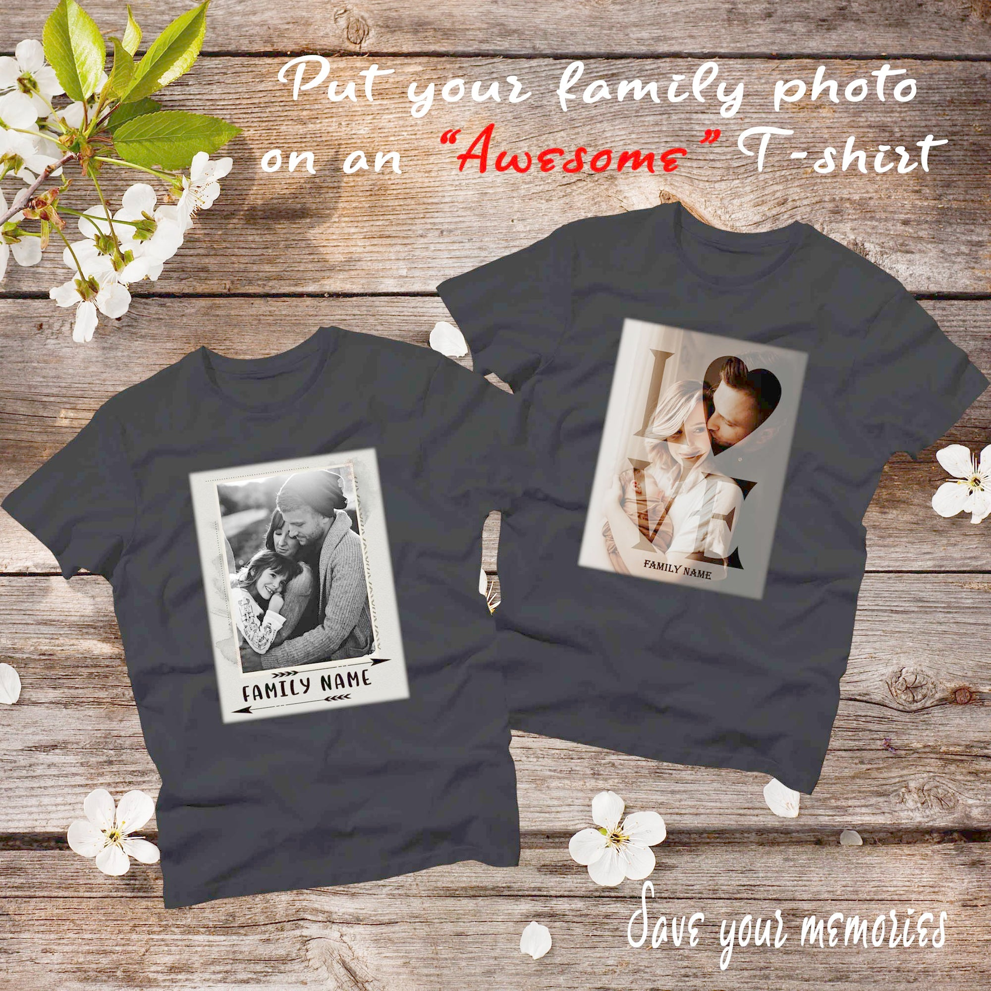 PERSONALIZED UNISEX T-SHIRT - FAMILY