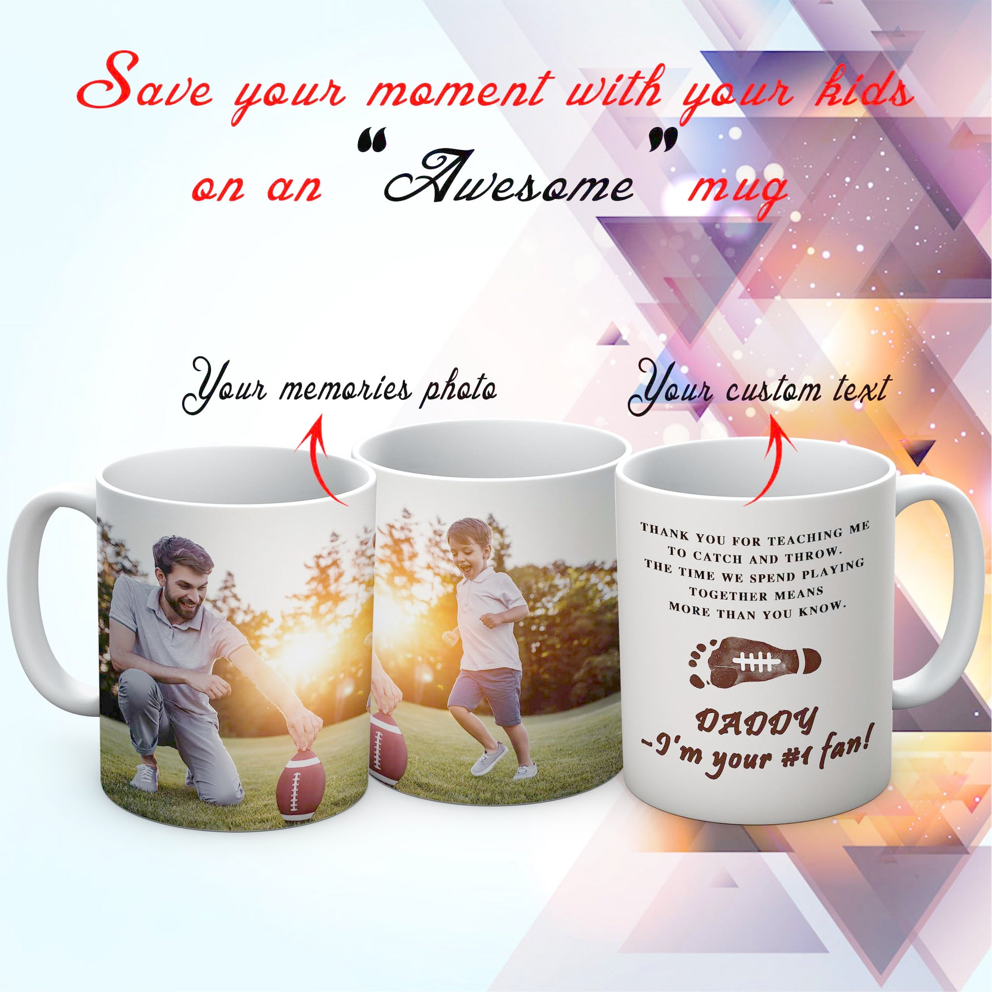 PERSONALIZED MUG - SAVE YOUR MOMENT WITH YOUR KIDS ON YOUR MUG