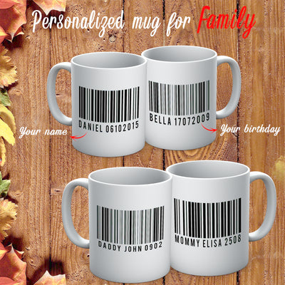 PERSONALIZED MUG - ADD YOUR DADDY NAME BARCODE ON YOUR MUG 4
