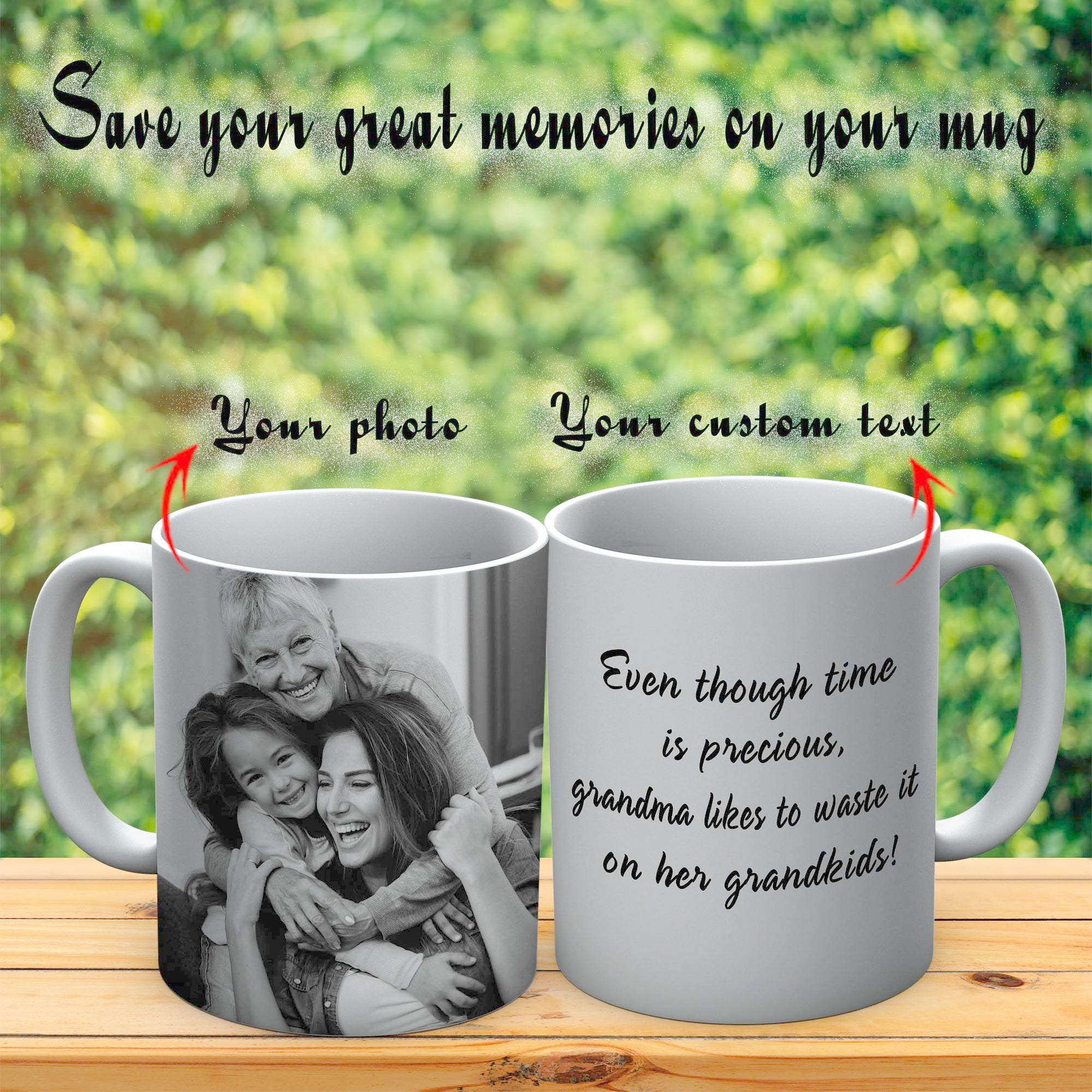 PERSONALIZED MUG - UPLOAD YOUR GREAT MEMORIES PHOTO