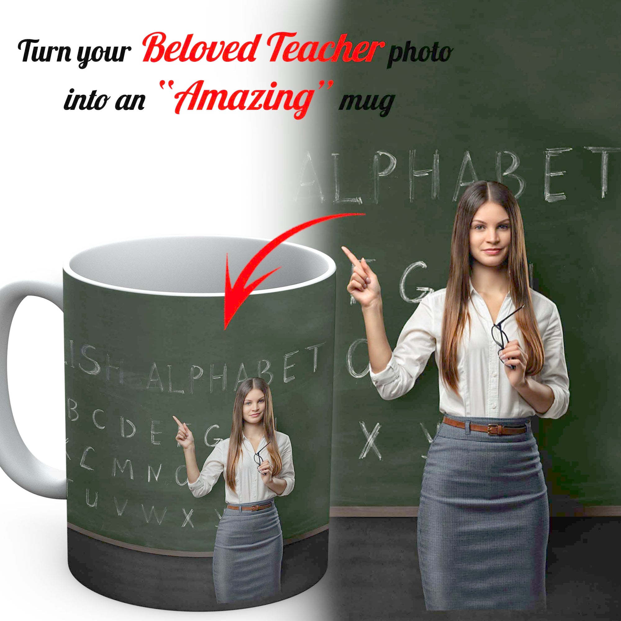 PERSONALIZED mug - upload your beloved teacher photos