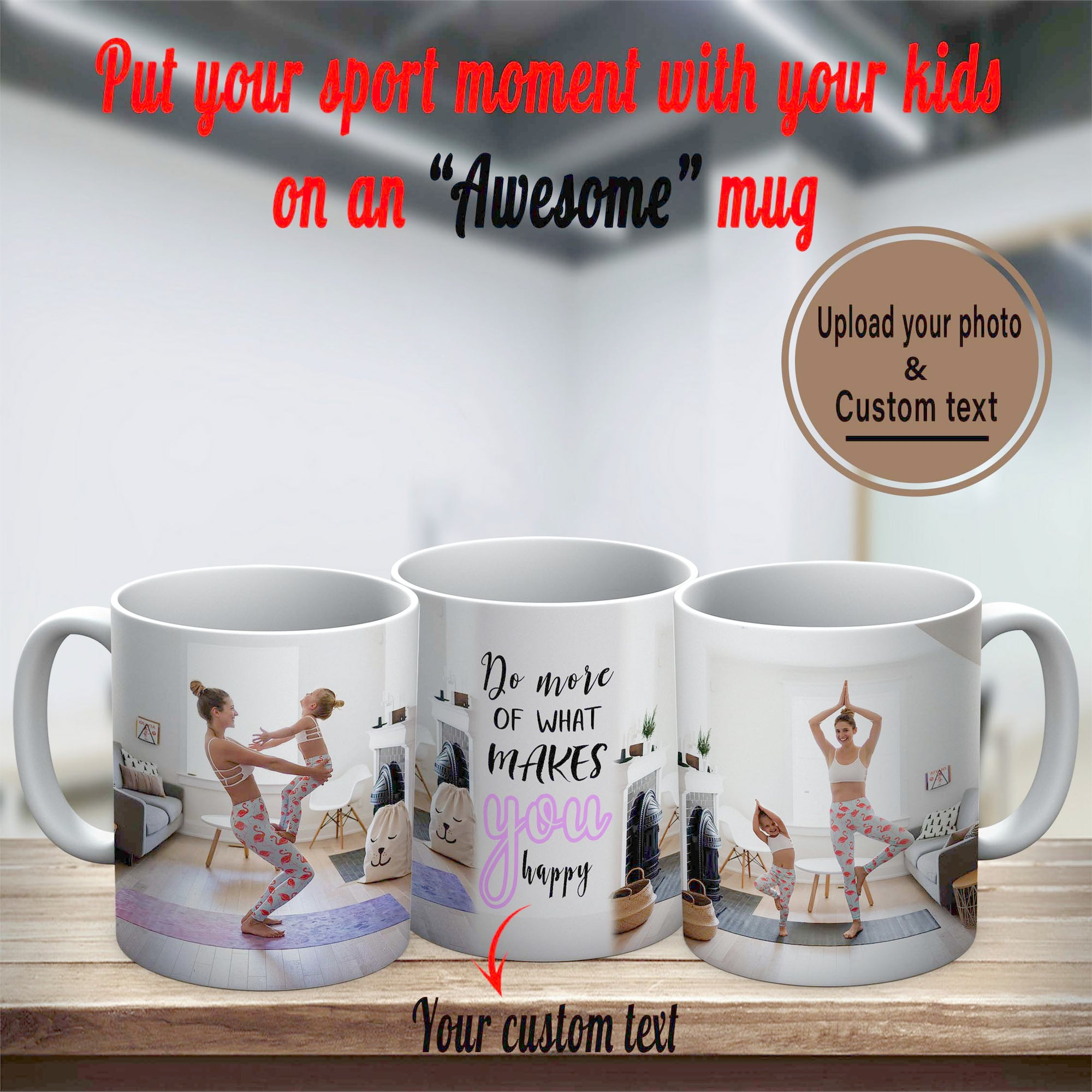 PERSONALIZED MUG - UPLOAD YOUR SPORT MOMENTS WITH YOUR KIDS