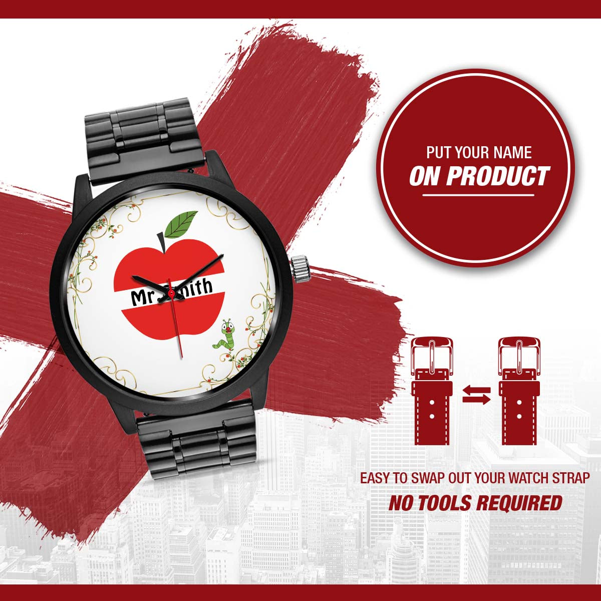PERSONALIZED WATCH - TURN YOUR NAME INTO YOUR AMAZING WATCH