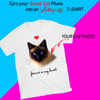 PERSONALIZED T-SHIRT - UPLOAD YOUR CAT PHOTO