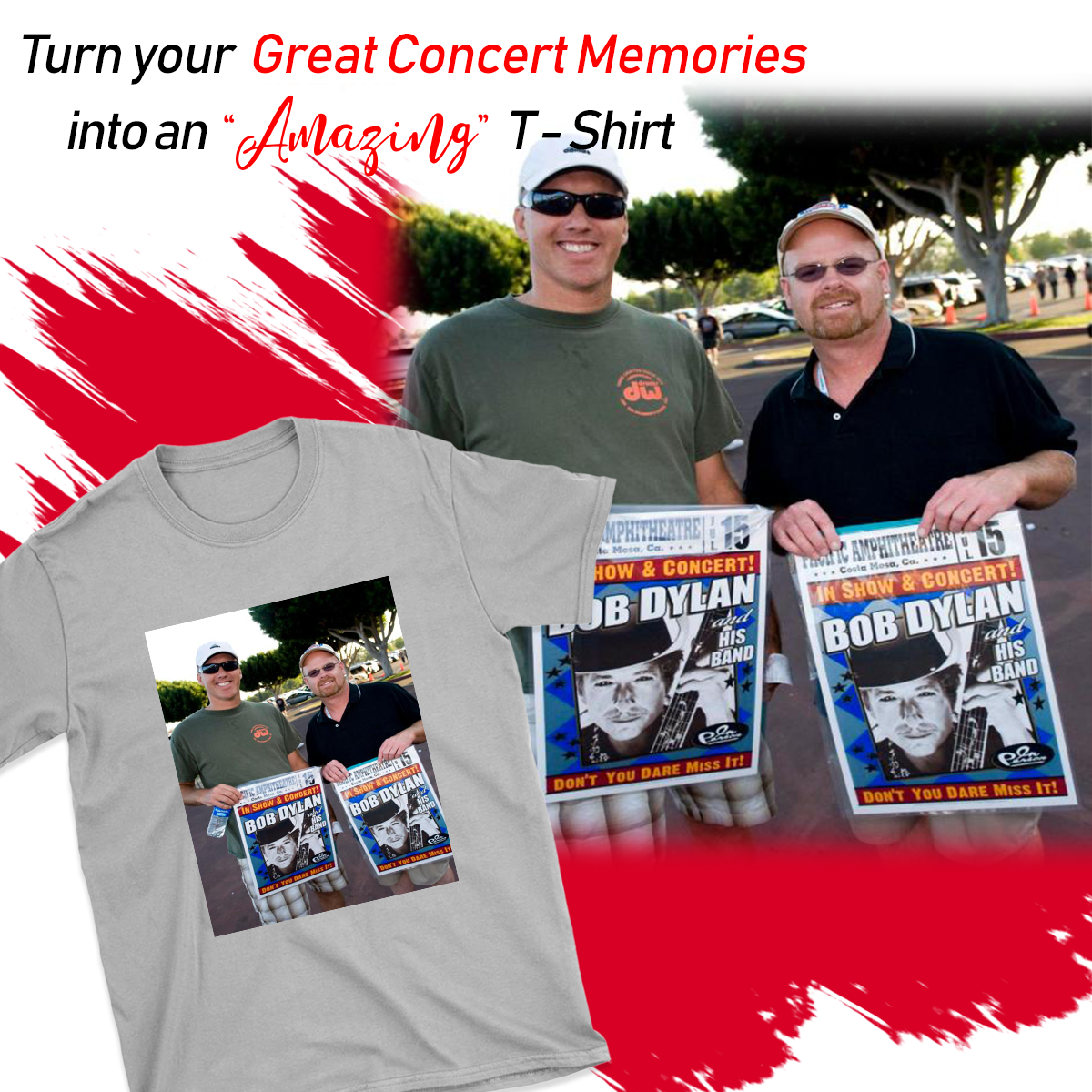 UPLOAD YOUR CONCERT MEMORY PHOTO ON T-SHIRT
