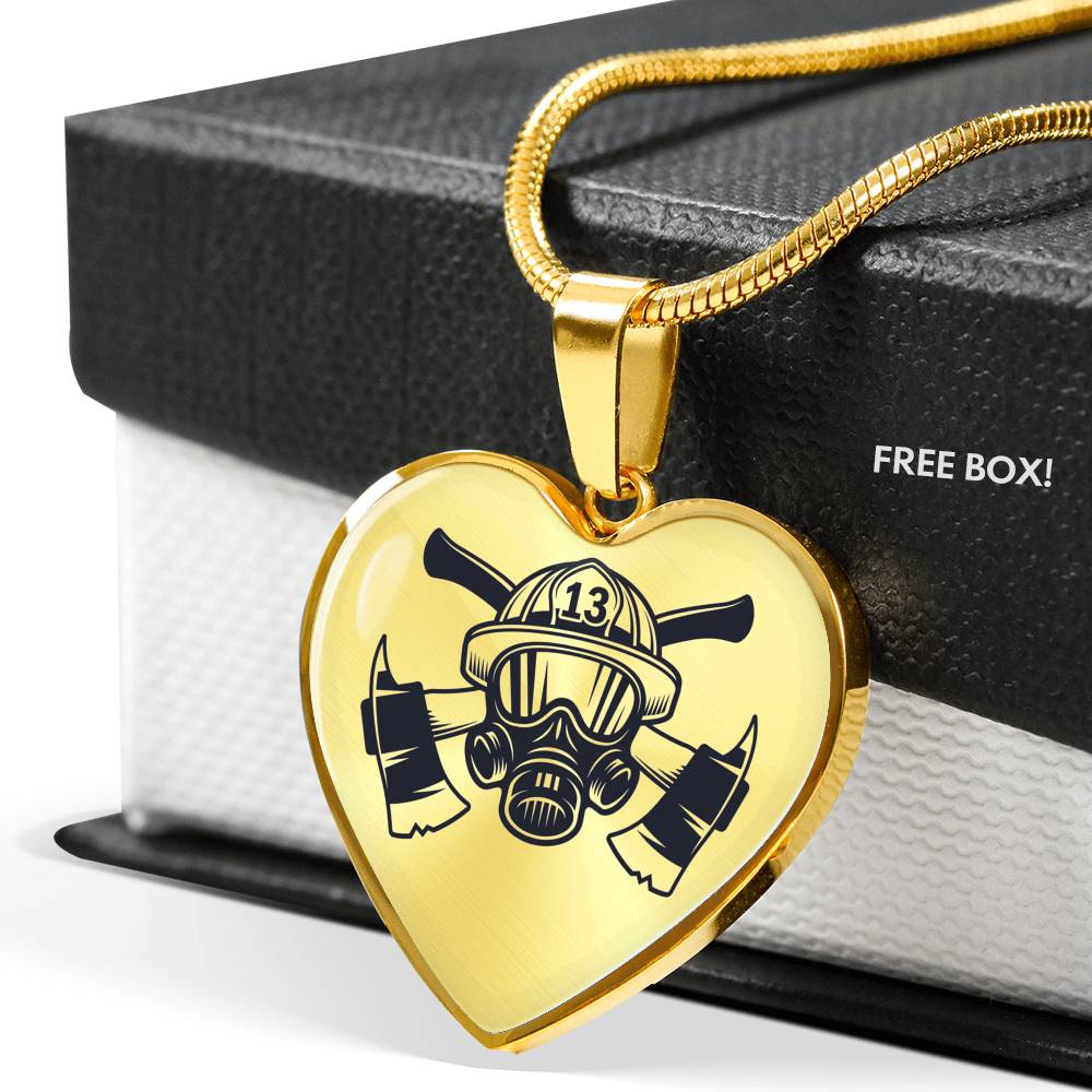 VIRA BEST-SELLER HEART JEWELRY FOR FIREFIGHTER LOVERS