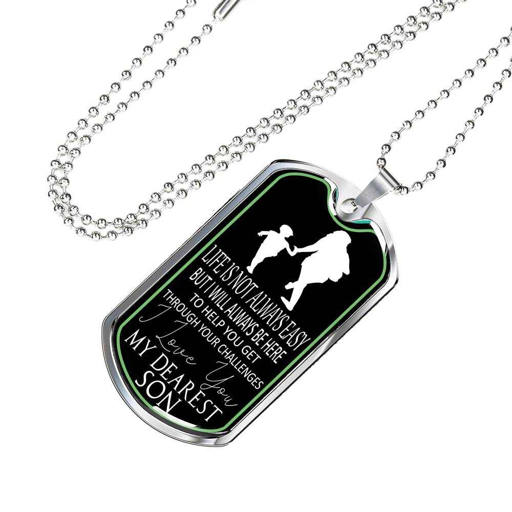 Luxury Military Dog Tag Show Mom Love For Son