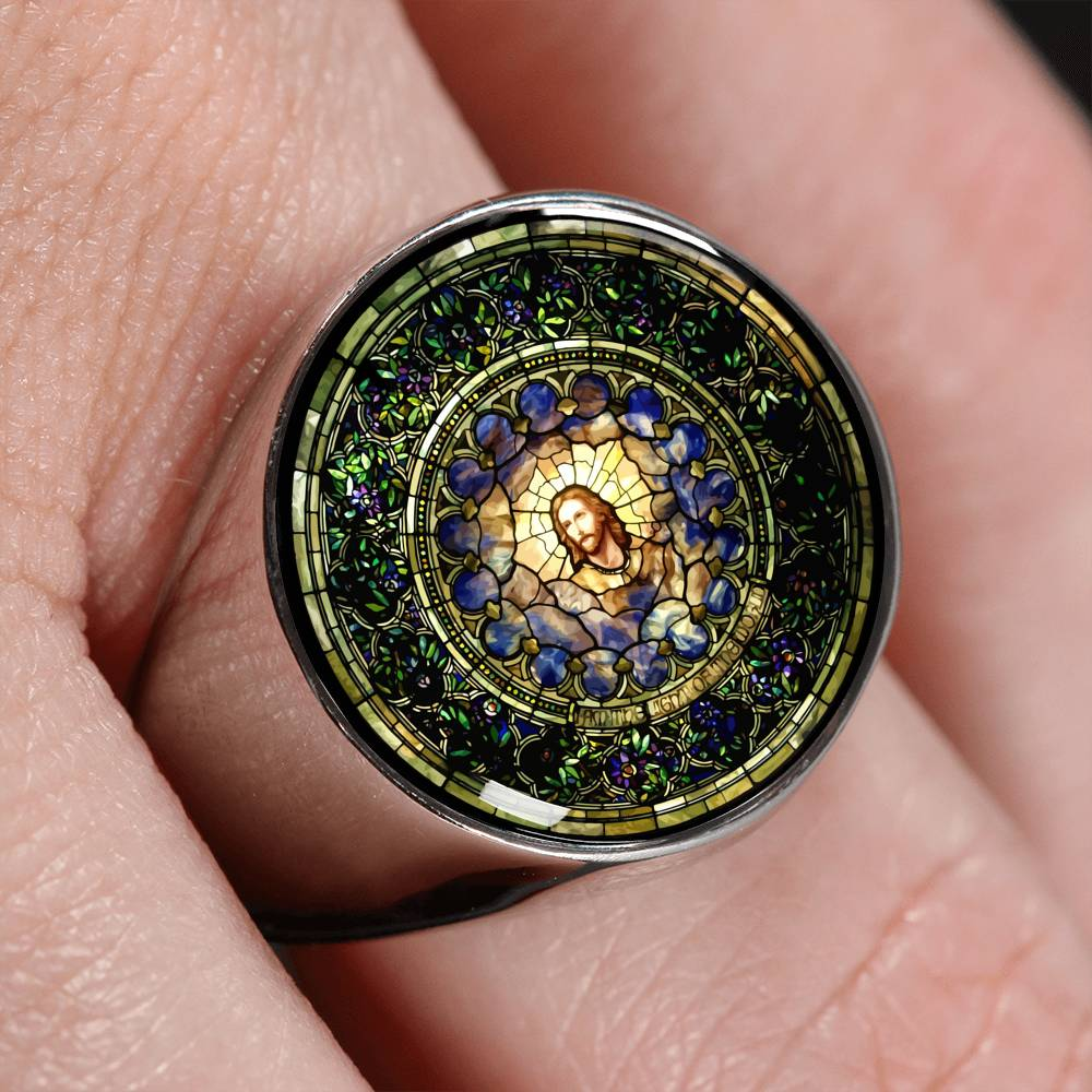 VIRA Awesome Signet Ring For Jesus Lovers