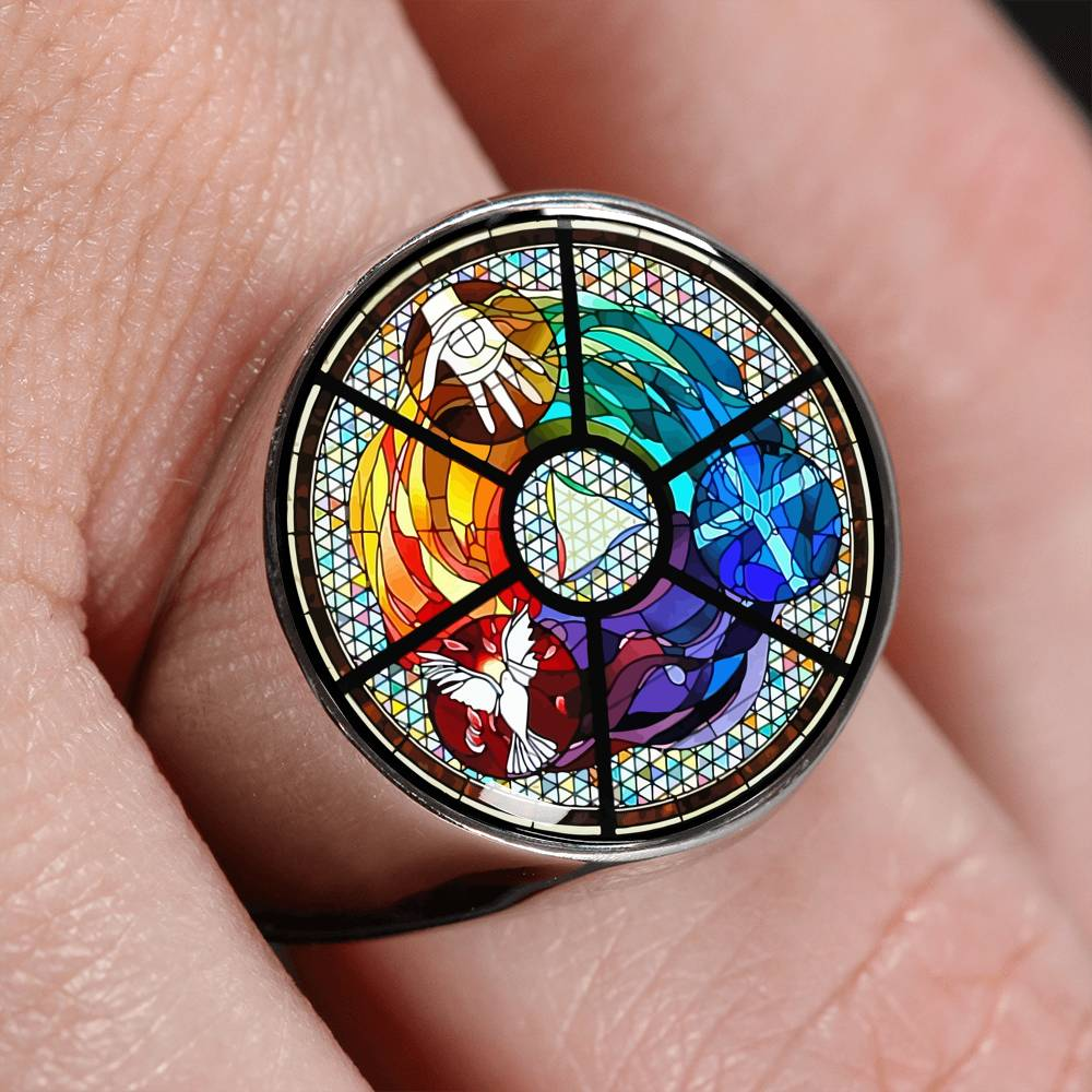 VIRA Perfect Signet Ring For Jesus Christ Lovers