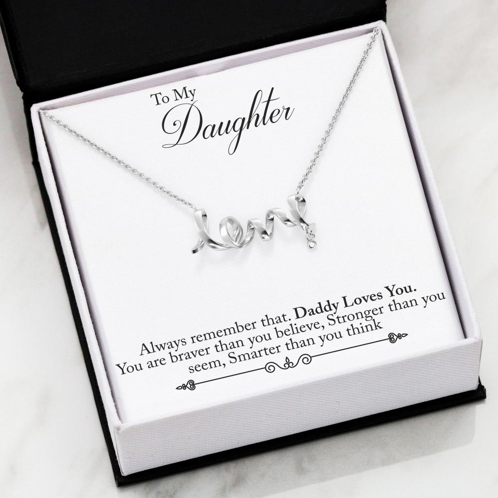 Mom always love you, daughter necklace