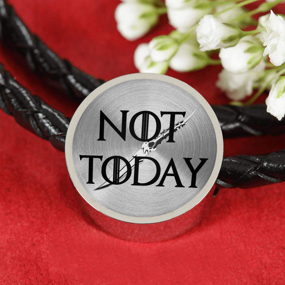 Vira Woven Leather Charm Bracelet not today
