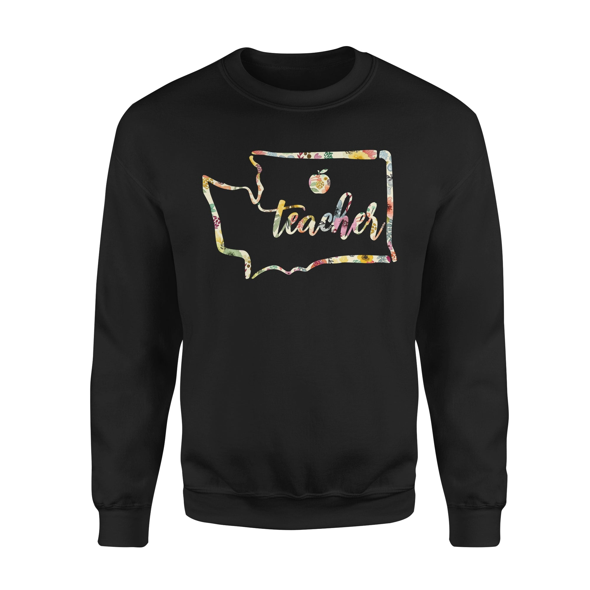 VIRA wahington state map Premium Fleece Sweatshirt for awesome teachers