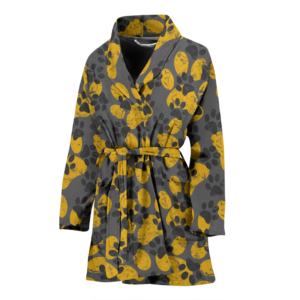 Cat Paw Print Women's Bath Robe
