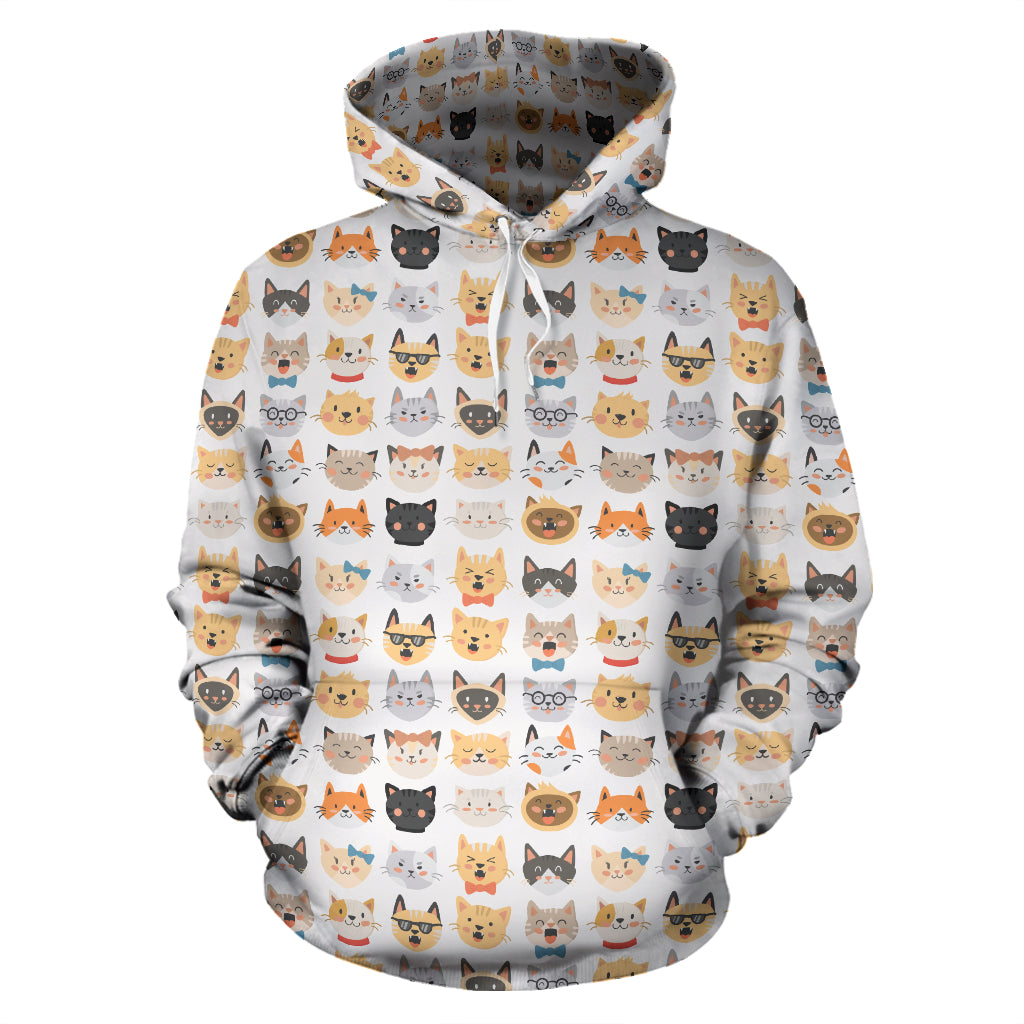 Cat Faces II Hoodies