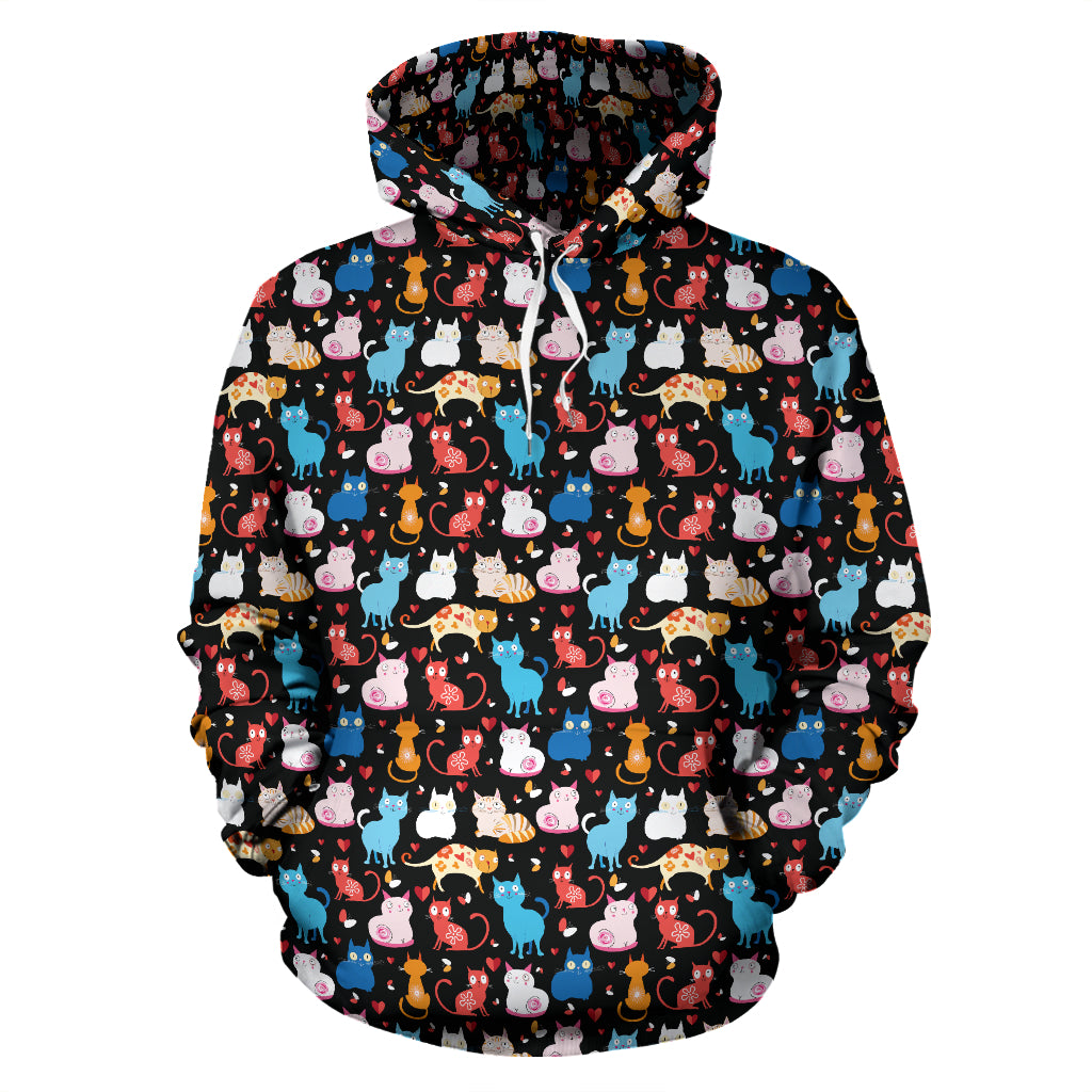Colored Cat Hoodies