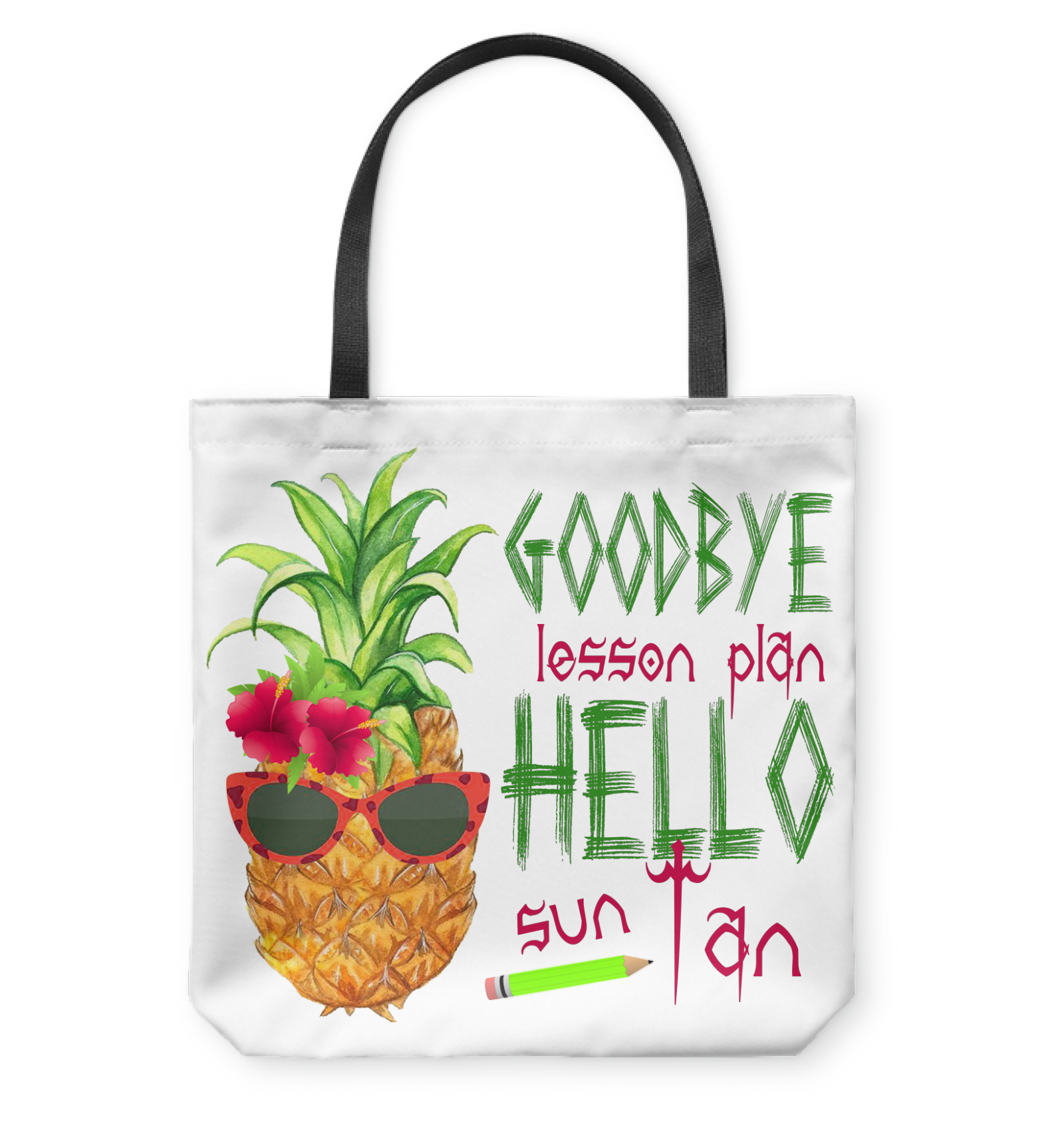 VIRA summer vacation tote bag for awesome teachers