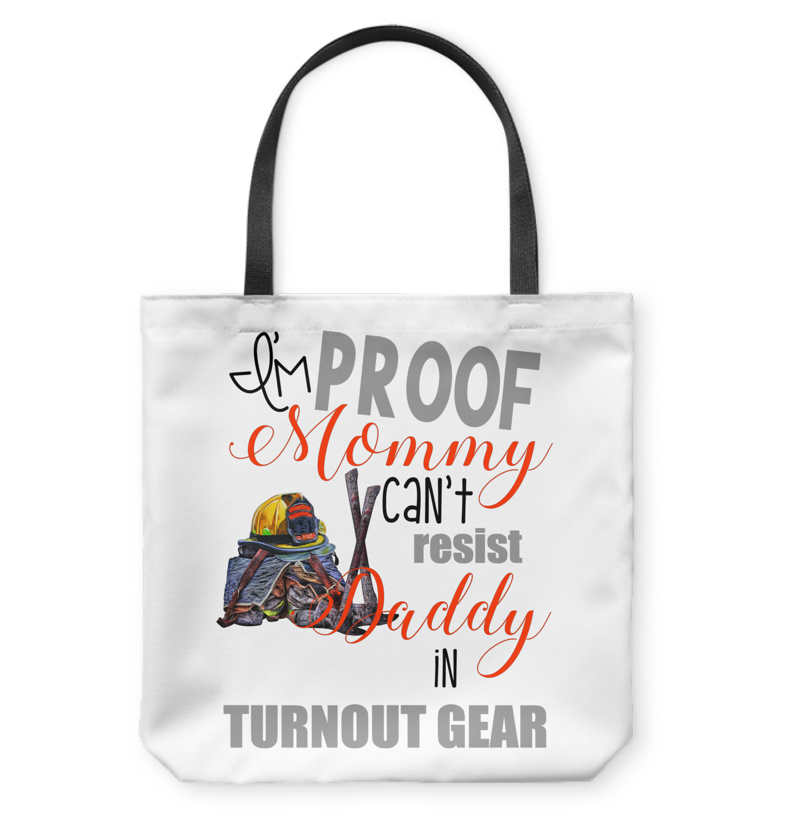 VIRA TOTE BAG FOR FIREFIGHTER MOMMY DADDY