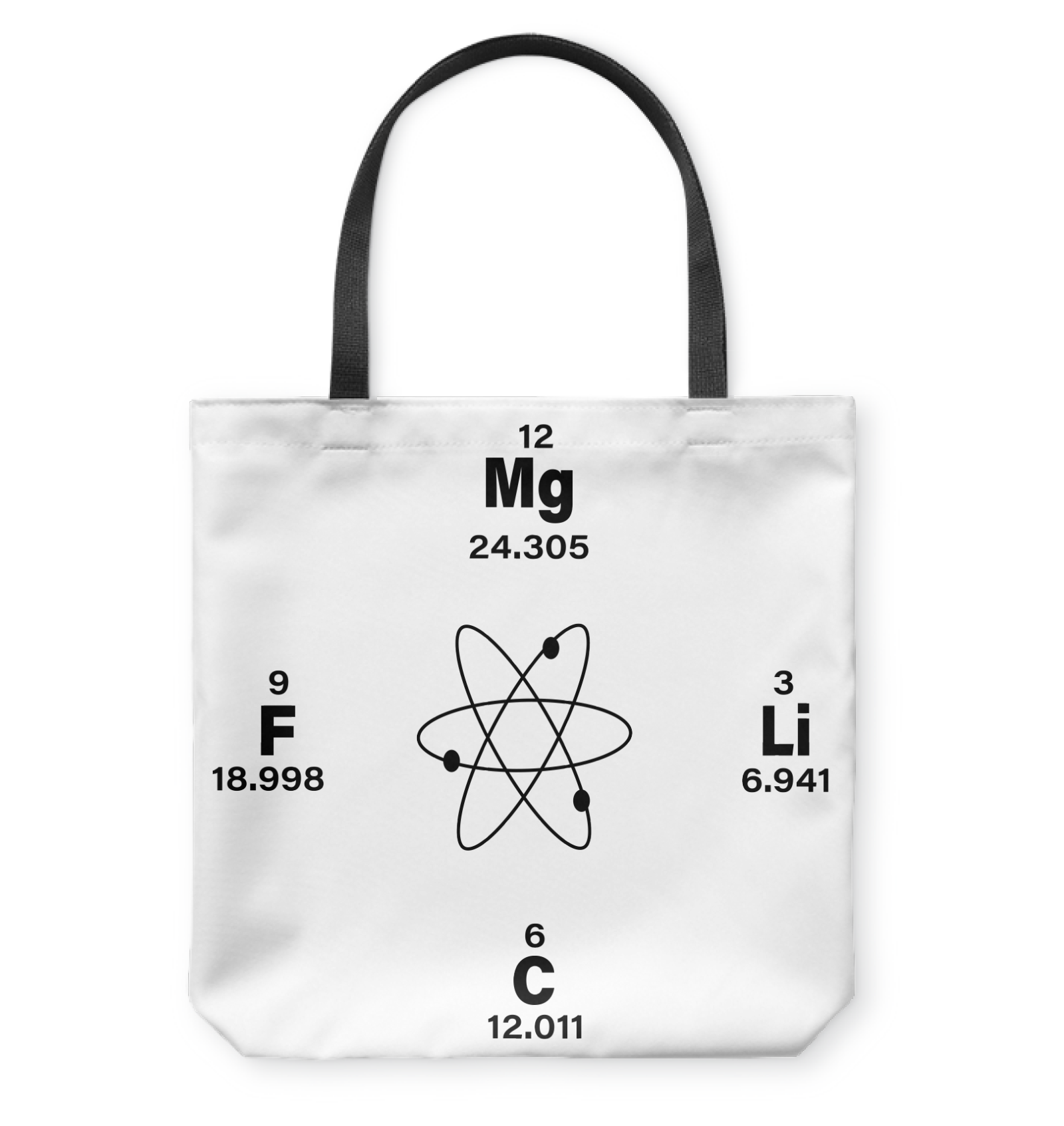 VIRA chemical elements tote bag for awesome teachers