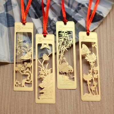 4pcs/lot Gold Metal Bookmarks Gifts for Teachers