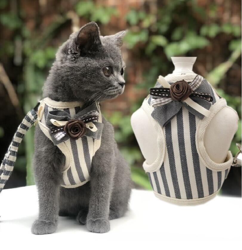 Cute Harness Leash Vest For Cats MD