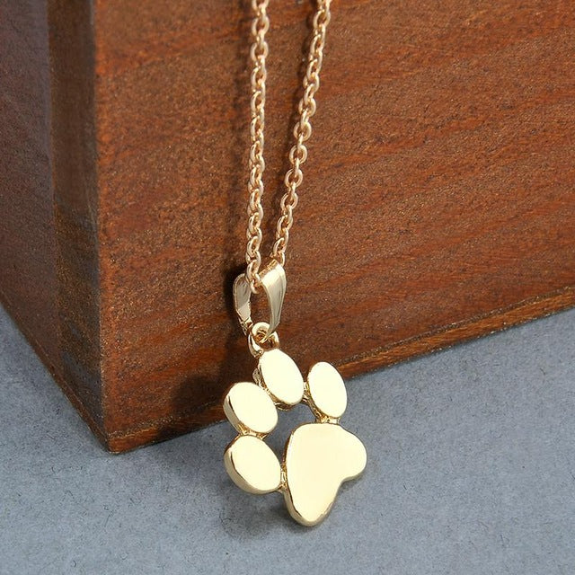 Gold Cat Paw Necklace